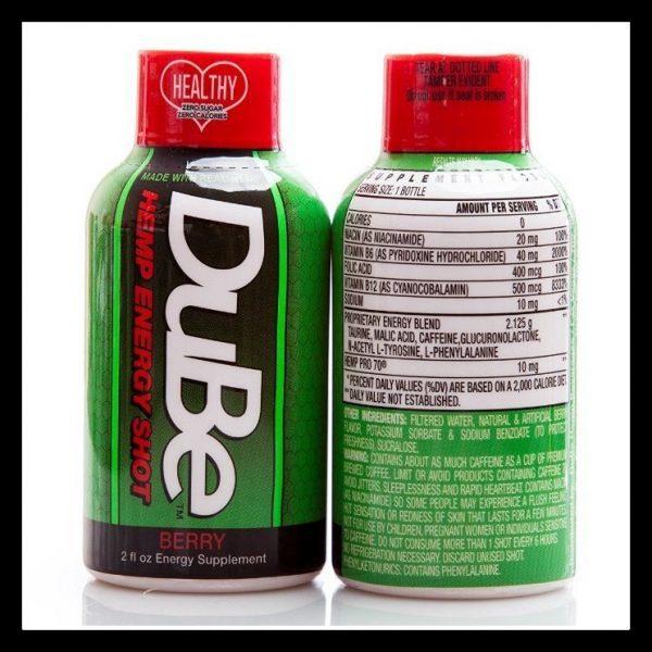 Dube Hemp Energy Shot Wild Berry Flavor 2 Oz